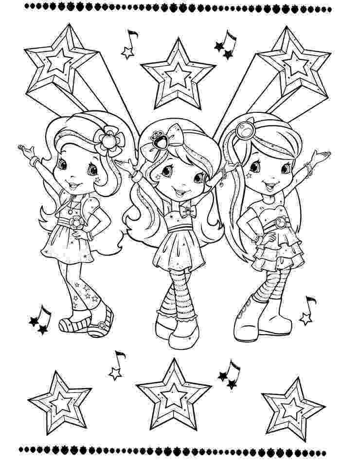 strawberry shortcake and friends coloring pages strawberry shortcake coloring pages coloring shortcake friends strawberry pages and