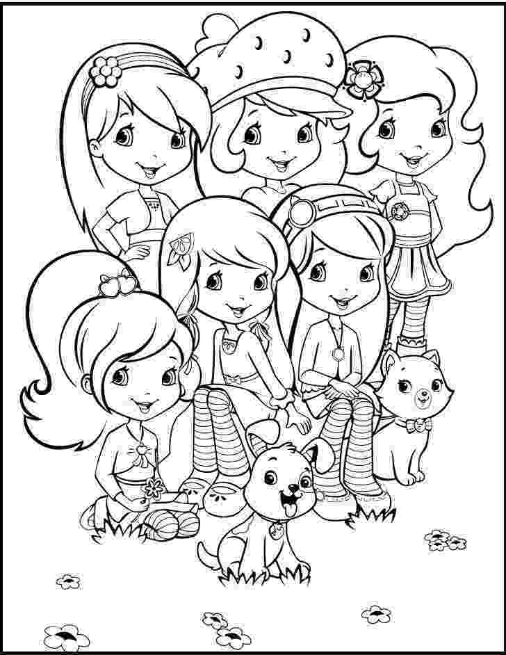 strawberry shortcake and friends coloring pages strawberry shortcake together with friends coloring coloring pages shortcake strawberry friends and