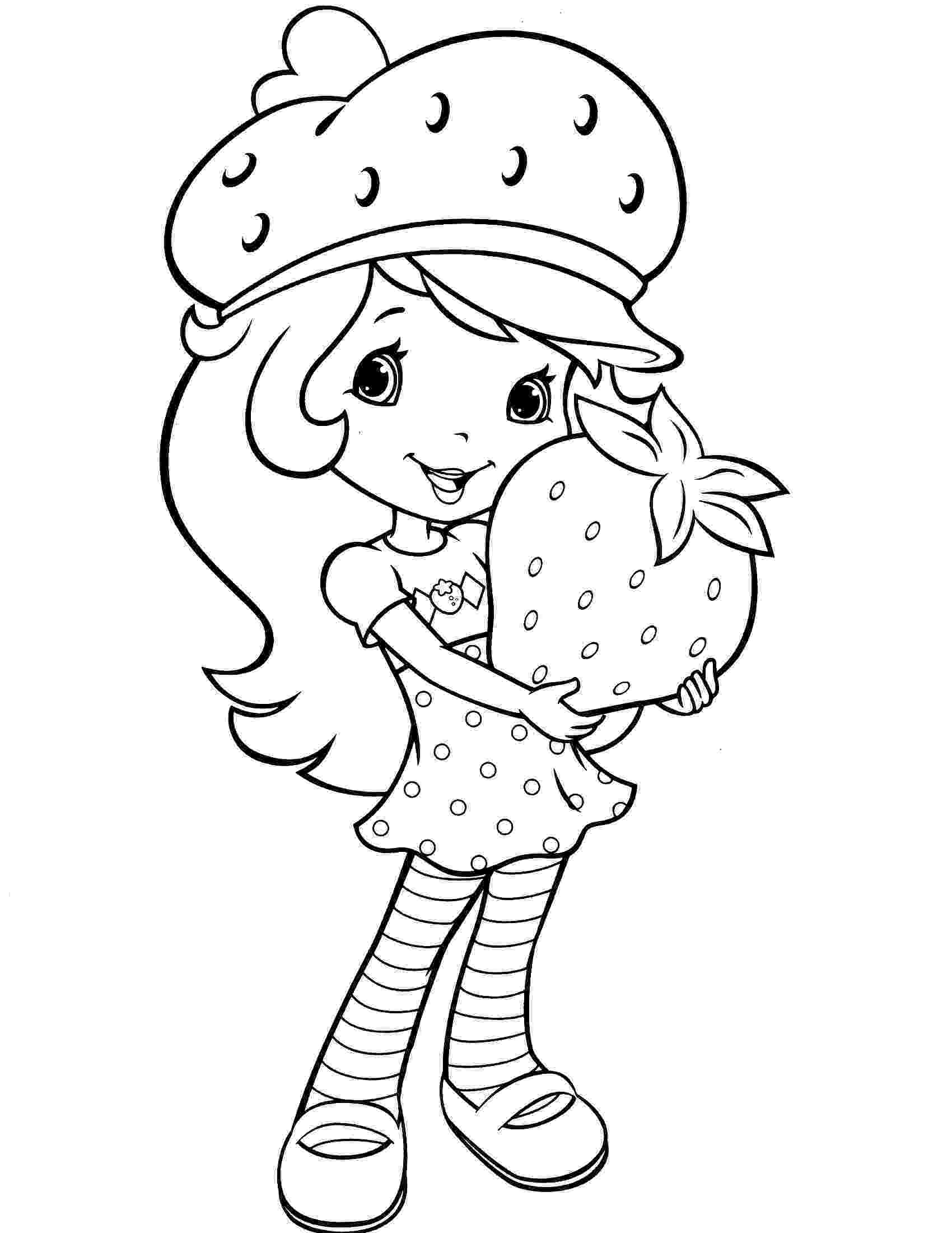 strawberry shortcake coloring pictures baby strawberry shortcake with baby pupcake and custard strawberry shortcake pictures coloring