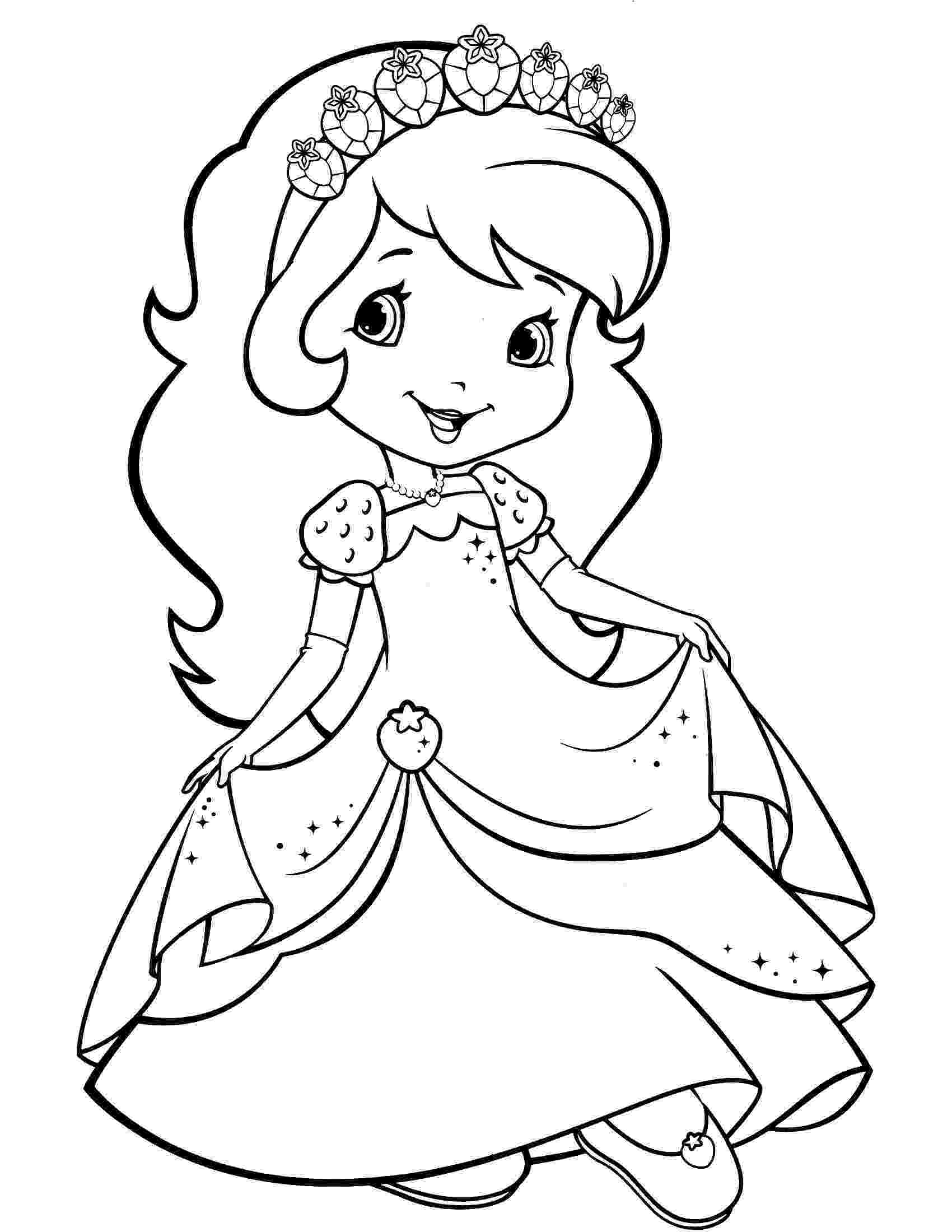 strawberry shortcake colouring pictures baby strawberry shortcake with baby pupcake and custard strawberry colouring pictures shortcake