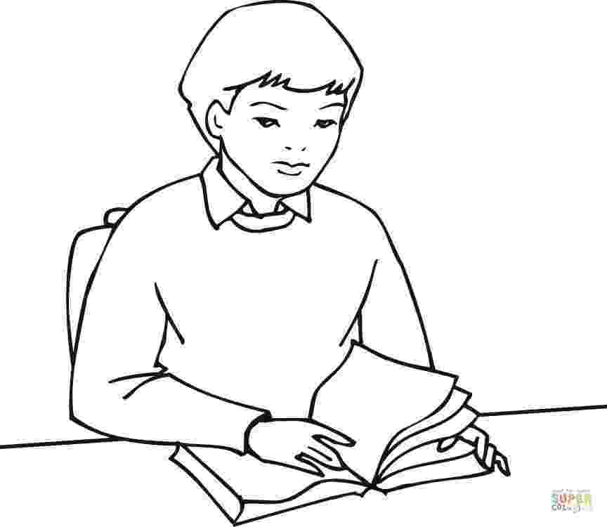 student coloring page funny young boy student coloring page wecoloringpagecom coloring page student