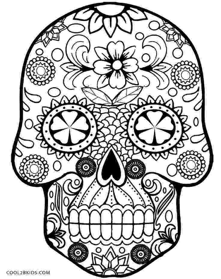sugar skulls pictures free printable skull coloring pages for kids pictures skulls sugar