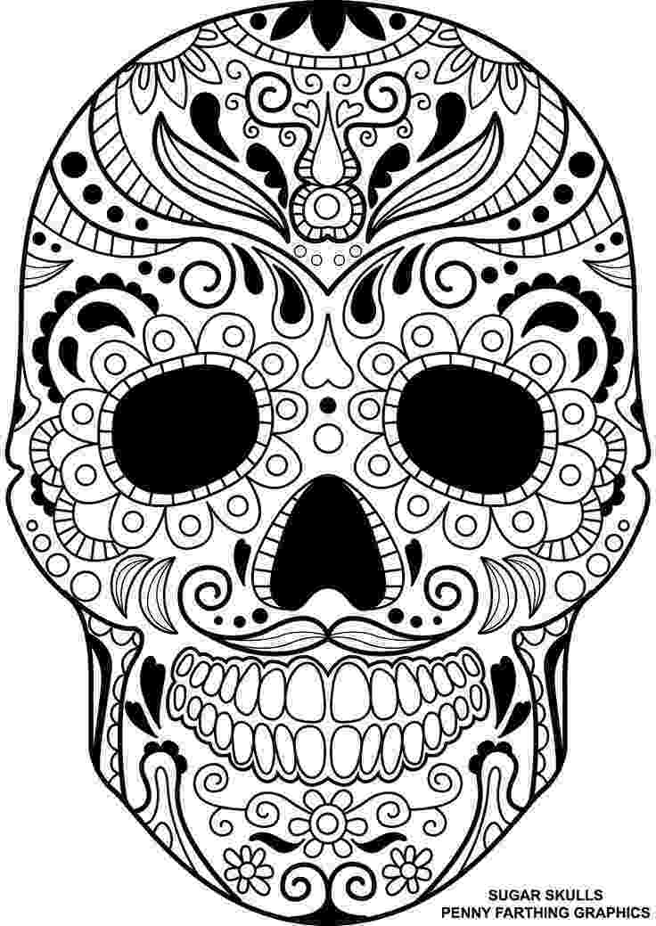 sugar skulls pictures printable skulls coloring pages for kids cool2bkids skulls sugar pictures