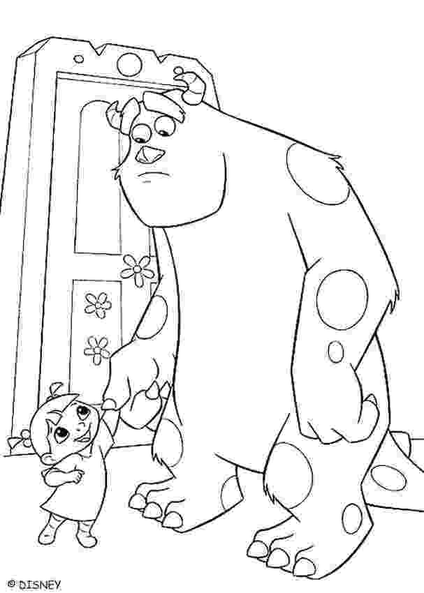 sulley coloring pages boo and sulley coloring pages hellokidscom sulley pages coloring