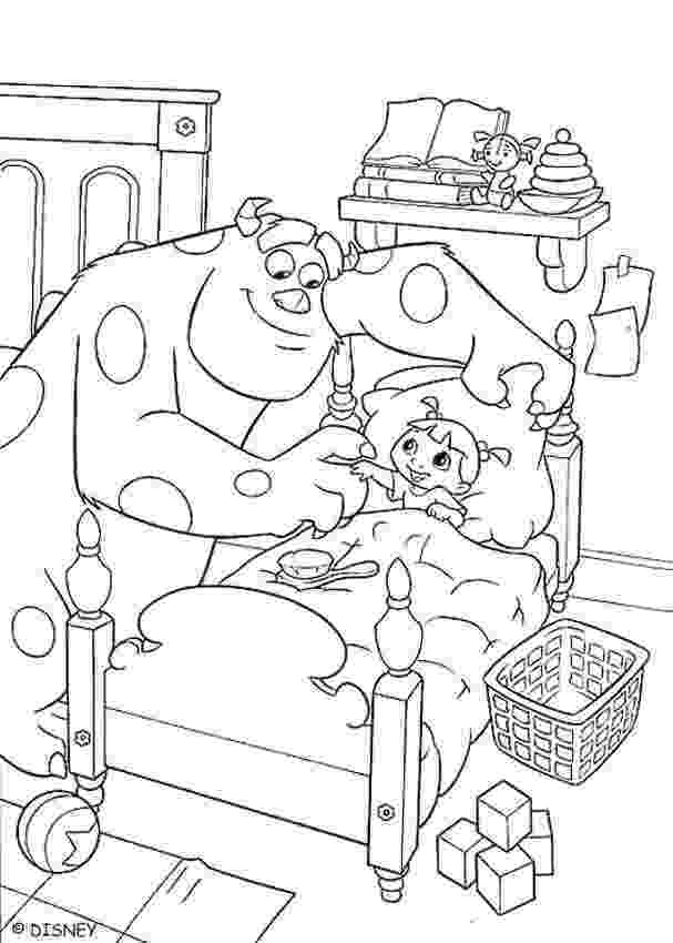 sulley coloring pages sulley and boo at bedtime coloring pages hellokidscom pages coloring sulley