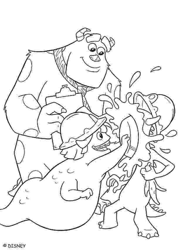 sulley coloring pages sulley39s scare exam coloring pages hellokidscom coloring sulley pages