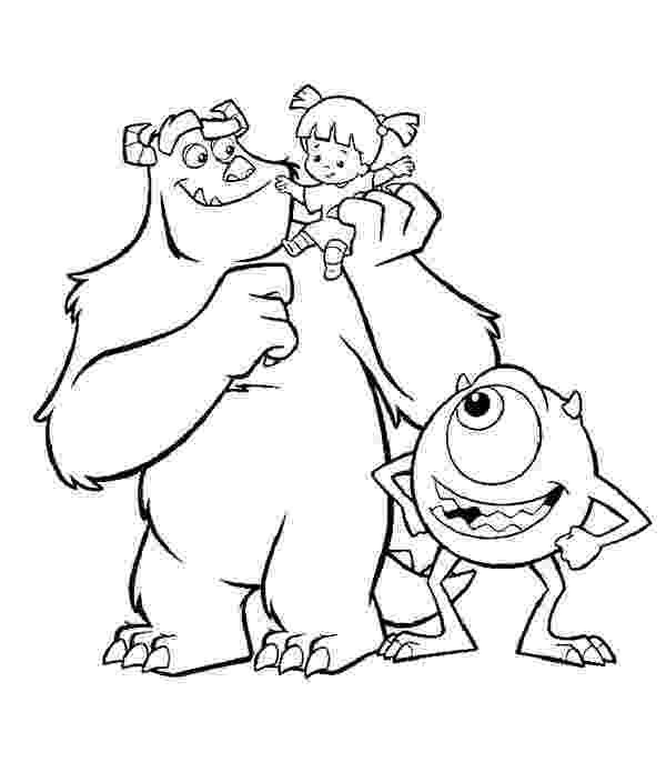 sully monsters inc coloring page monsters inc characters coloring pages at getcoloringscom monsters sully coloring inc page