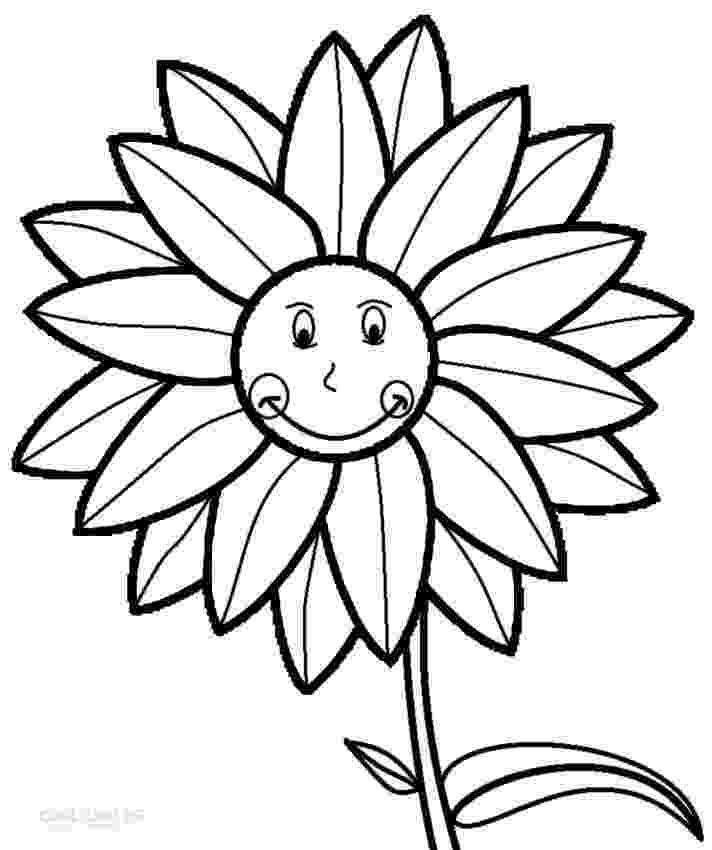 sunflower for coloring printable sunflower coloring pages for kids cool2bkids sunflower for coloring