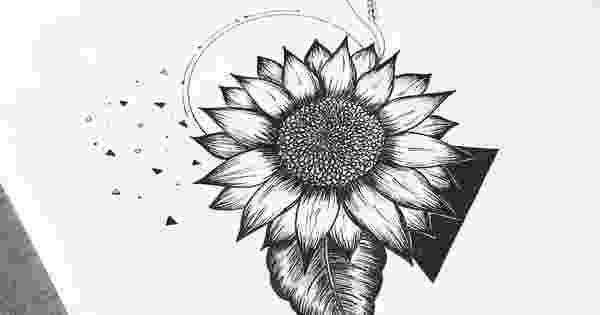sunflower sketch sunshine love drawing by j ferwerda sunflower sketch