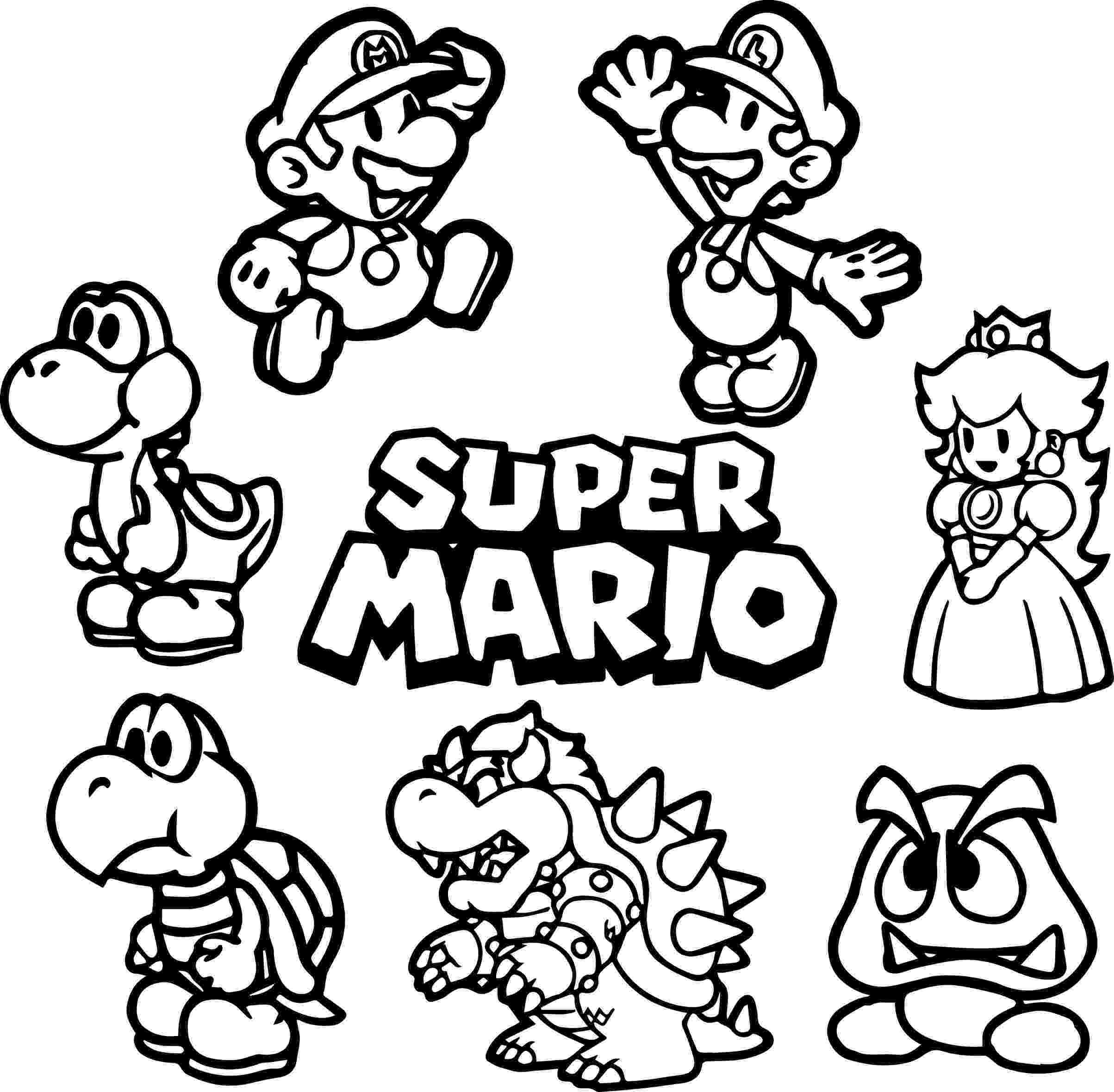 super mario bros coloring unique super mario brothers wii coloring pages top free mario coloring bros super