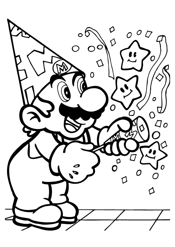 super mario print all mario characters coloring pages coloring home mario print super