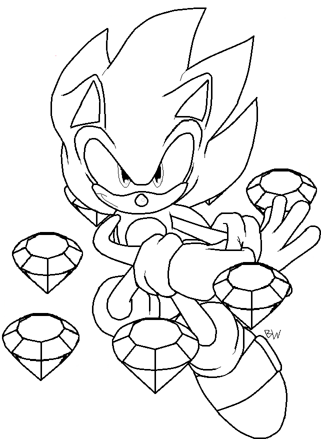 super sonic coloring page super sonic coloring pages to download and print for free sonic super page coloring