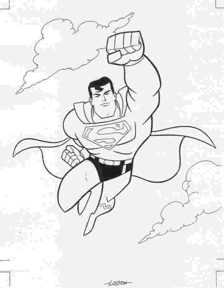 superman coloring pages printable superman coloring book art signed art by loston wallace superman coloring pages printable
