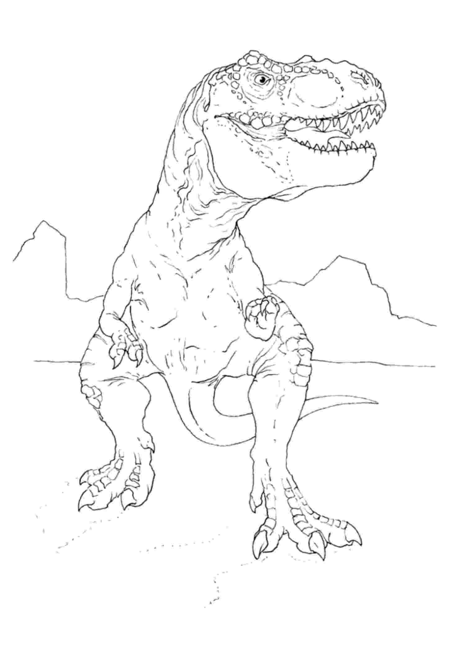 t rex colour print download dinosaur t rex coloring pages for kids colour rex t