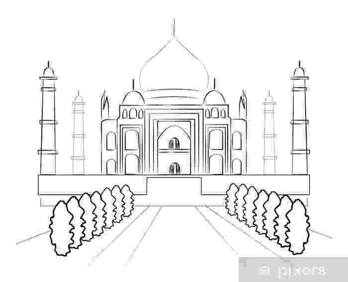 taj mahal dibujo taj mahal agra india hand drawn illustration stock vector mahal taj dibujo