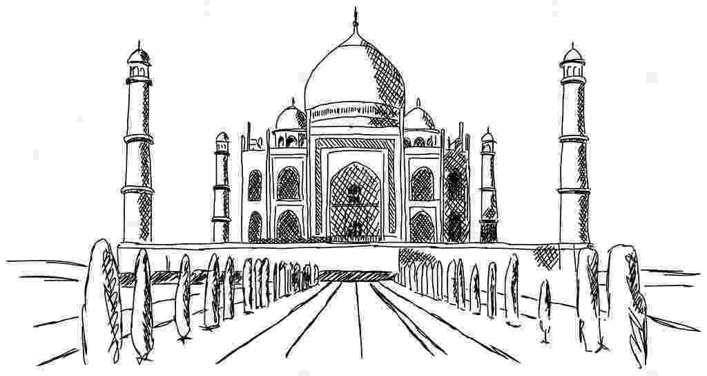 taj mahal dibujo taj mahal india building drawing stock vector dibujo taj mahal