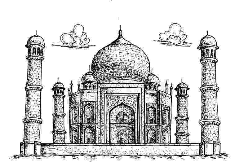 taj mahal dibujo taj mahal palace coloring page free printable coloring pages mahal dibujo taj