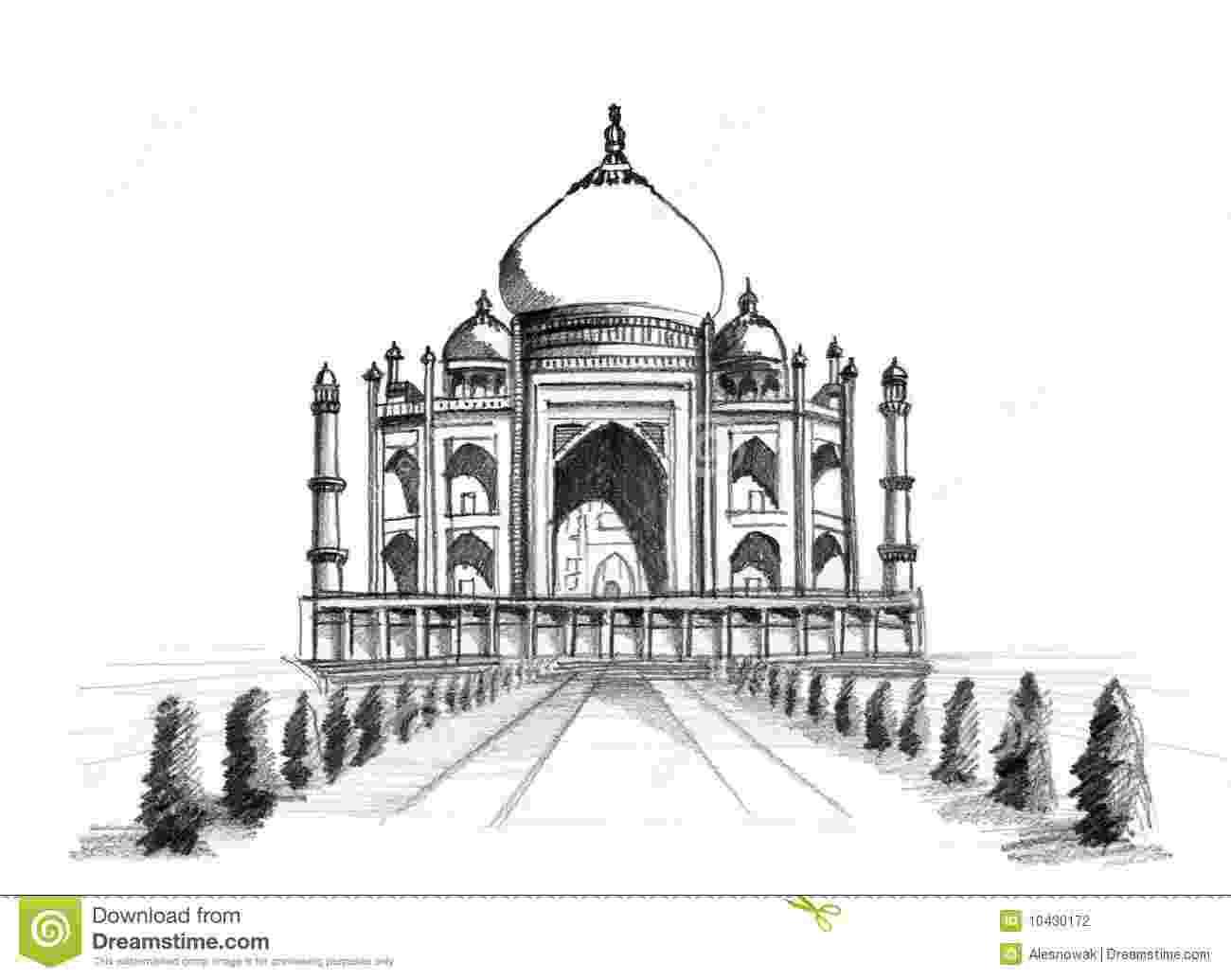 taj mahal dibujo taj mahal stock illustration illustration of dome draw mahal taj dibujo