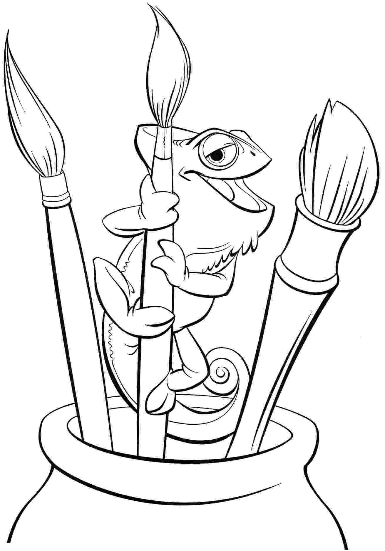 tangled pascal coloring pages coloring pages print color craft coloring tangled pages pascal