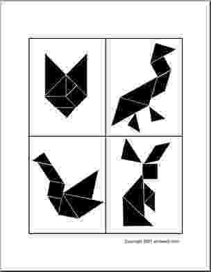 tangram frog tangram du poisson figures et pièces pour maternelle tangram frog