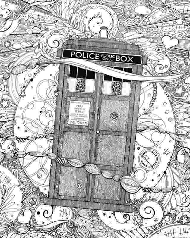 tardis colouring pages for an exclusive all new adventure featuring matt smith colouring pages tardis