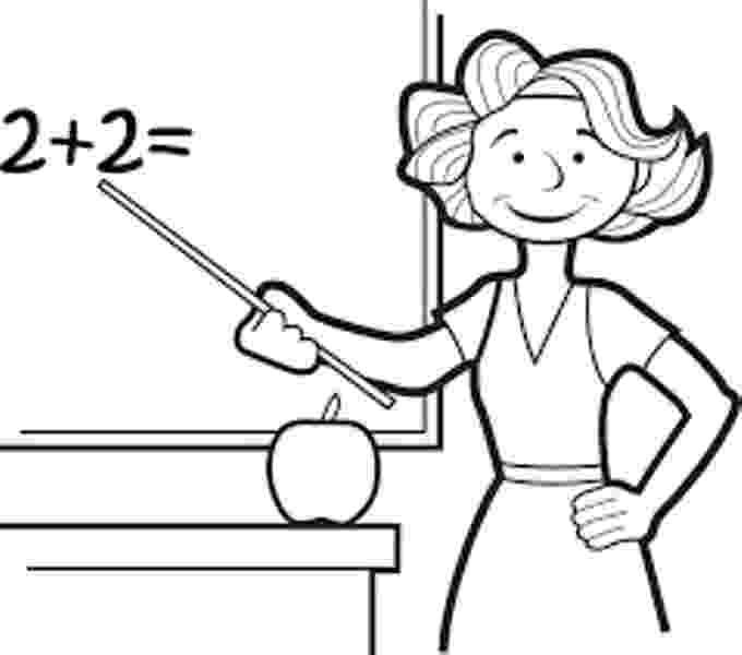 teacher for coloring teacher teaching at class coloring book page stock coloring teacher for