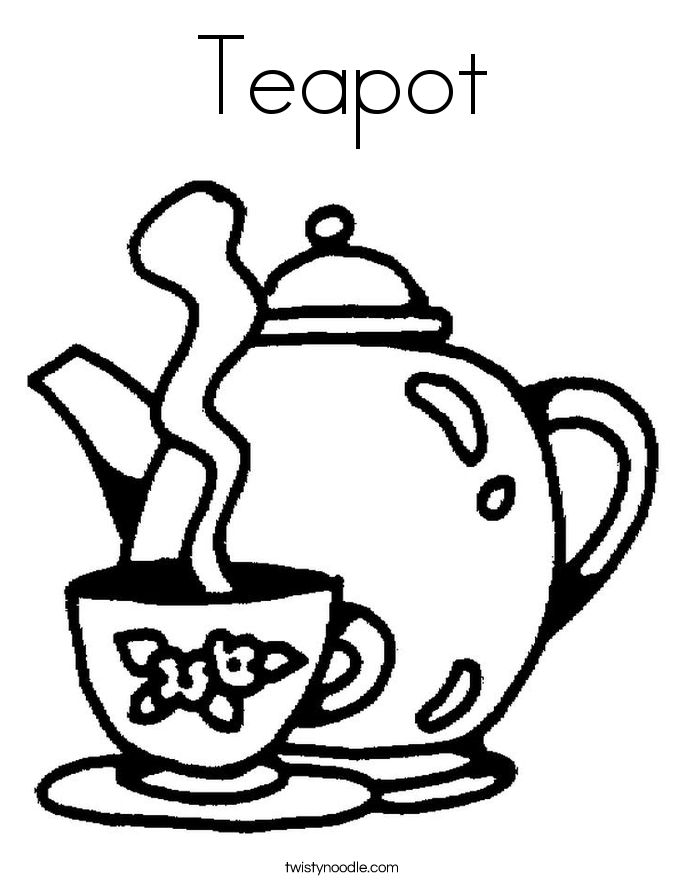teapot colouring mother39s day strawberry tea worksheet twisty noodle colouring teapot