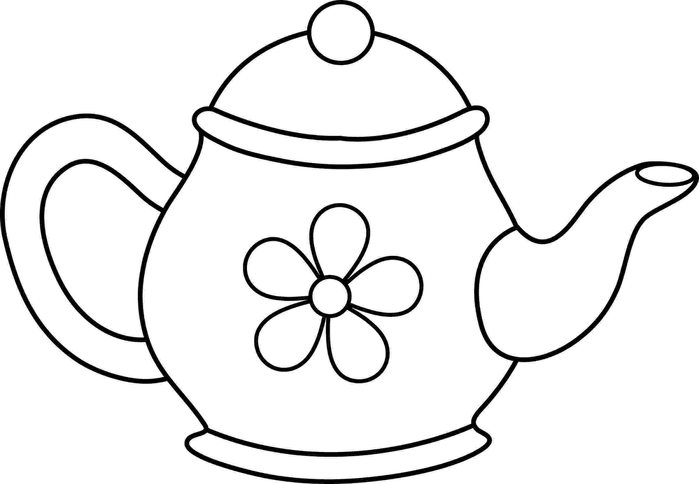 teapot colouring printable teapot coloring pages coloring home colouring teapot