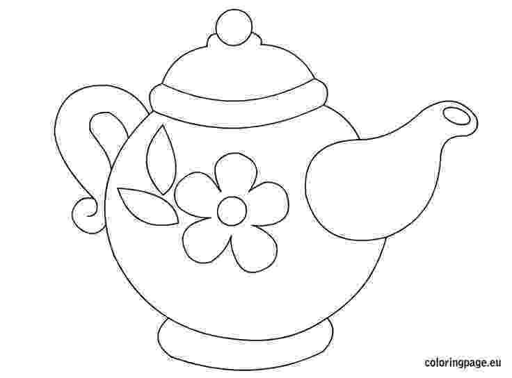 teapot colouring teapot coloring page clipart best teapot colouring