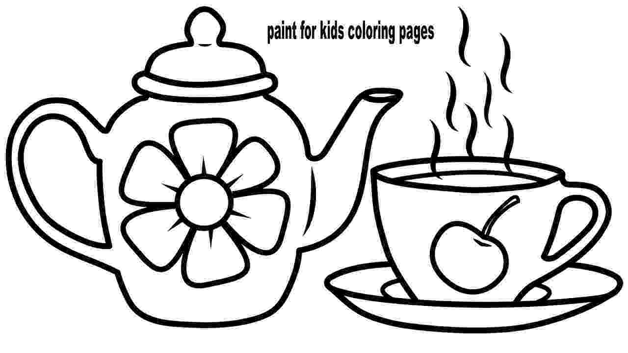 teapot colouring teapot coloring page coloring home teapot colouring