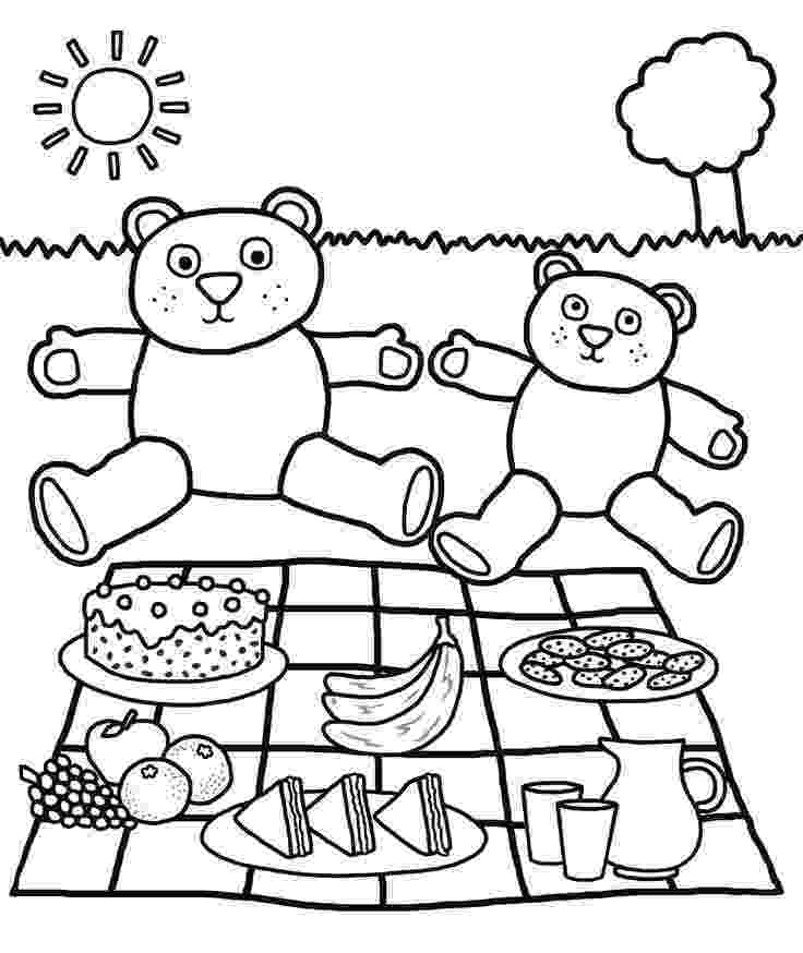 teddy bear picnic coloring pages bring your teddy bears at family picnic coloring pages pages teddy picnic bear coloring