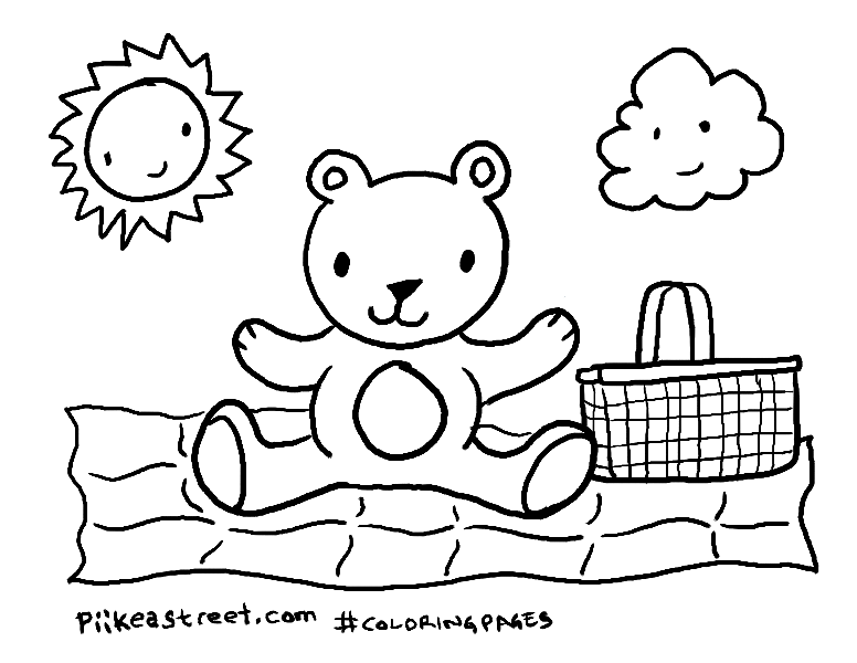 teddy bear picnic coloring pages free printable bear coloring pages for kids bear coloring teddy picnic pages