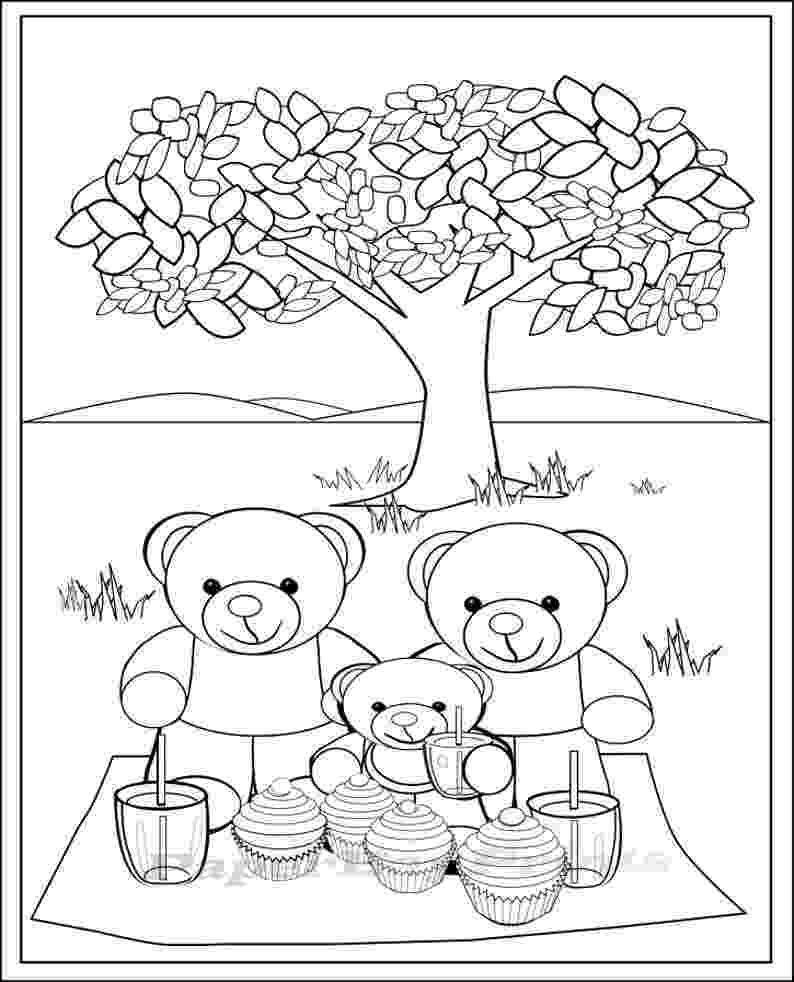 teddy bear picnic coloring pages how to celebrate nationalteddybearday with a teddy bear bear picnic coloring teddy pages
