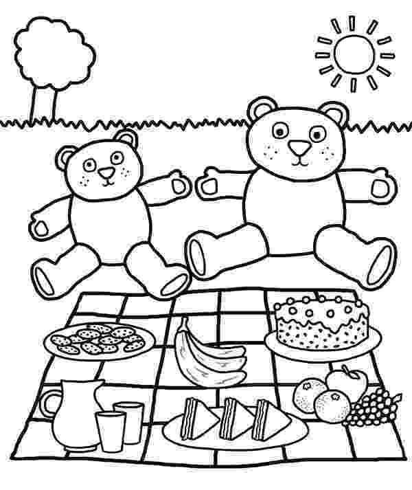 teddy bear picnic coloring pages teddy bear coloring pages for kids teddy picnic bear coloring pages