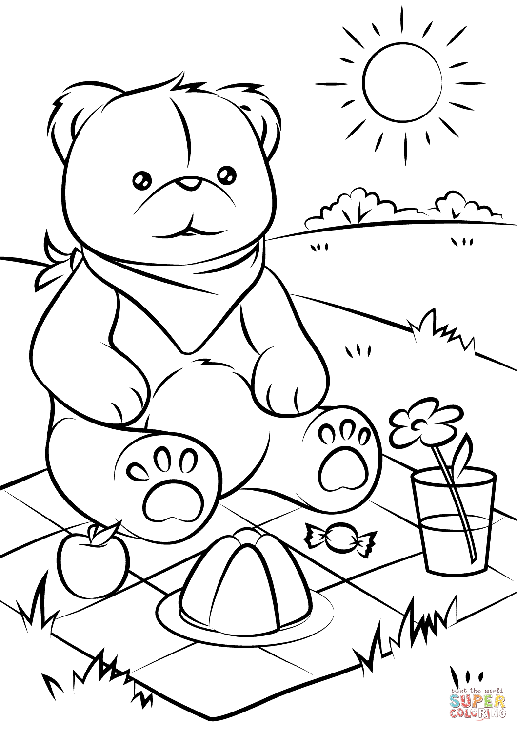 teddy bear picnic coloring pages teddy bear picnic coloring pages for kids it39s a teddy coloring teddy picnic bear pages