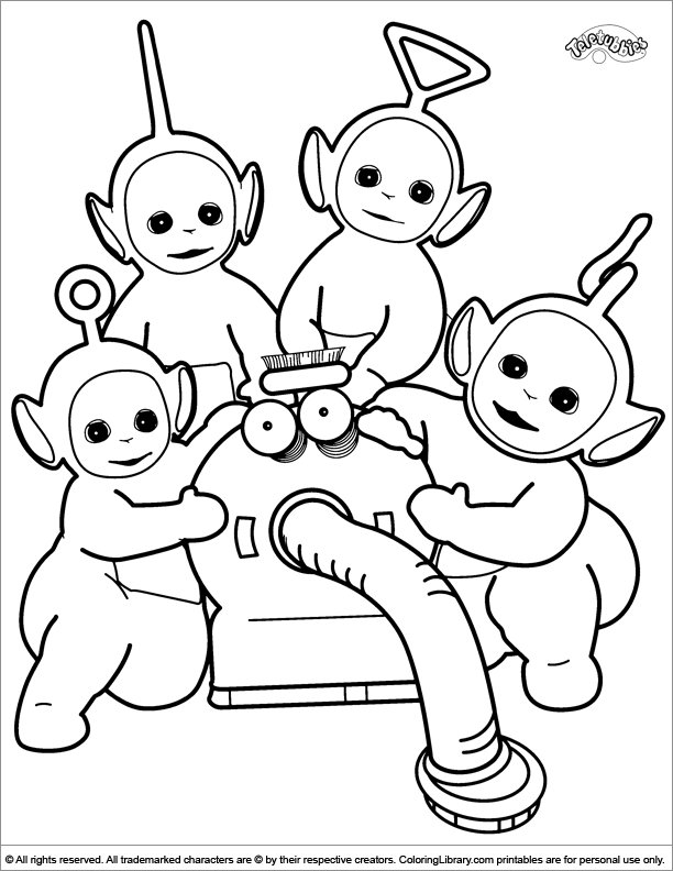 teletubbies colouring pages cute teletubbies coloring page coloring pictures for pages teletubbies colouring