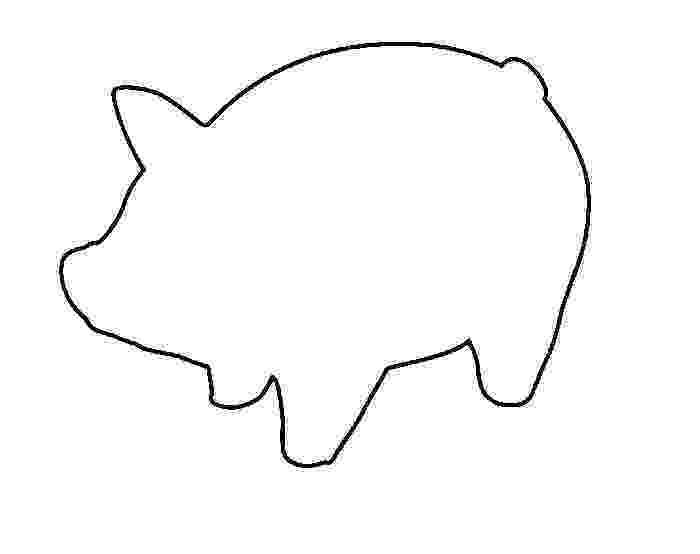 template of a pig 4 legged animals templates icesculptingtoolscom a template of pig