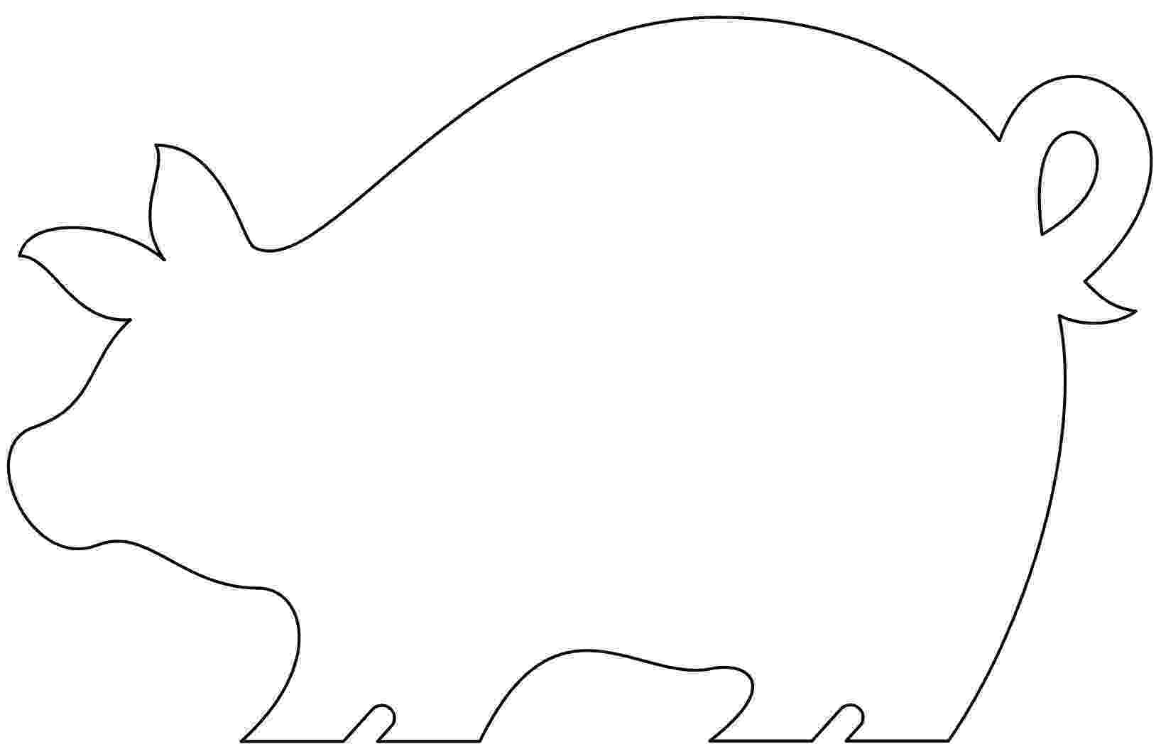 template of a pig cut out farm animal patterns puzzle template 6 pieces pig of template a