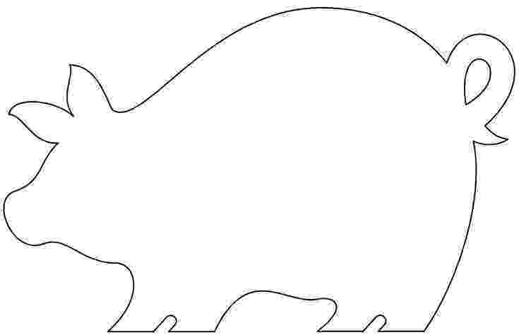 template of a pig pig template animal templates free premium templates template a pig of