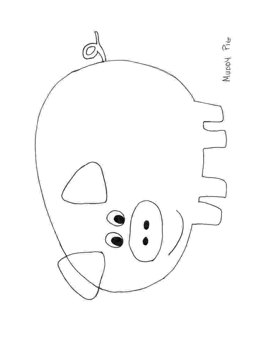 template of a pig pig template clipart best pig of template a