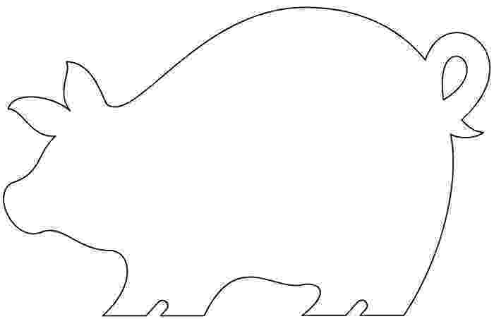 template of a pig pig template for preschoolers clipart best of template pig a