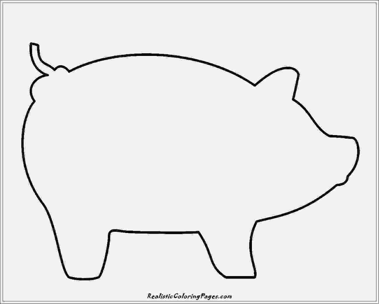 template of a pig pig template for preschoolers clipart best pig of a template
