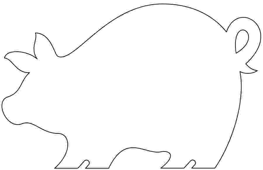 template of a pig printable pig template pig template of a