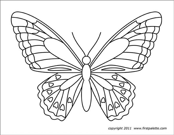 template of butterfly for colouring ty hilton free coloring pages colouring of template butterfly for