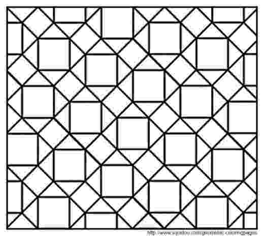 tessellations to color geometric tessellation with rhombus pattern coloring page tessellations to color