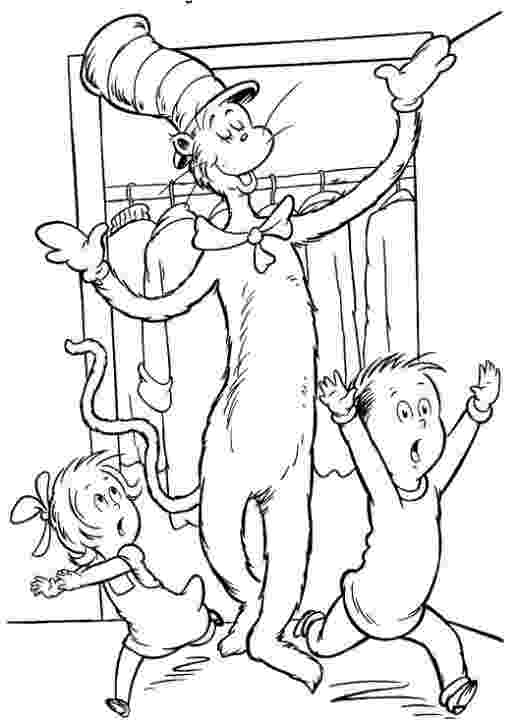 the cat in the hat colouring pictures cat in the hat coloring pages cat colouring the the hat pictures in
