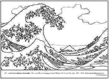 the great wave coloring page great wave kanagawa japan adult coloring pages coloring great the wave page