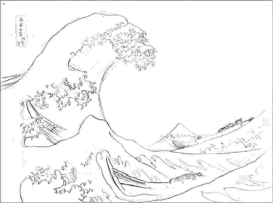 the great wave coloring page hokusai great wave coloring page sketch coloring page great page the coloring wave