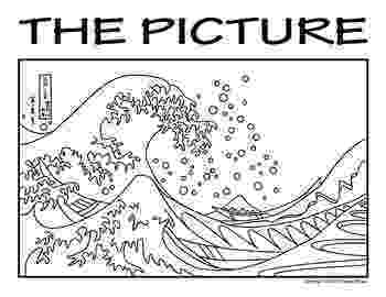 the great wave coloring page hokusai great wave coloring page sketch coloring page page great coloring wave the