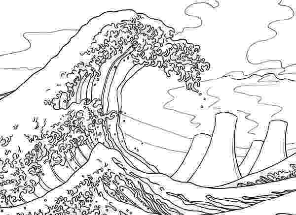 the great wave coloring page hokusai great wave coloring page sketch coloring page page wave the coloring great